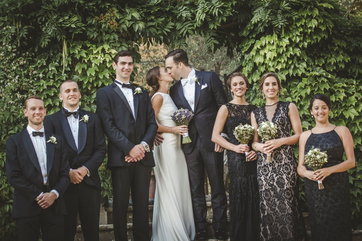 A & J black-tie wedding in Chianti, Tuscany