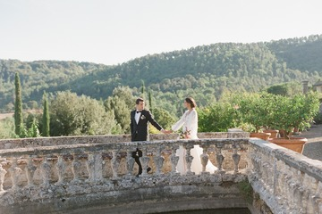 Old World Inspired Castle Wedding in Tuscany