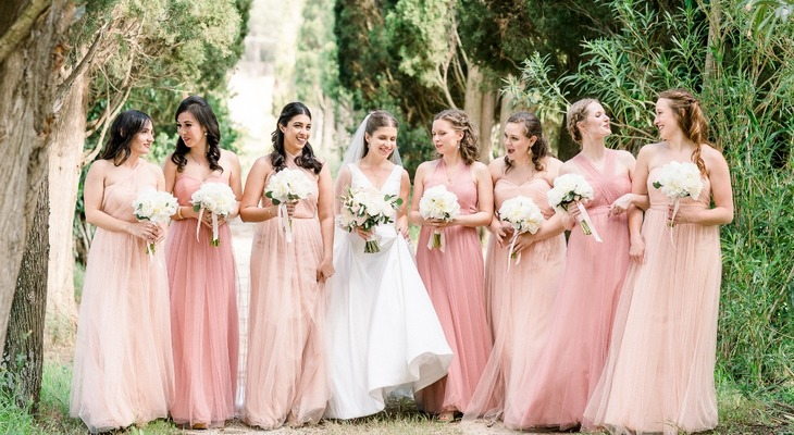 Romantic Tuscany Destination Wedding in Pink and Peach