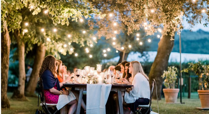 Tuscany outdoor wedding reception
