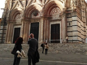 Private guided walking tour of Siena, Tuscany - the beautiful Cathedral