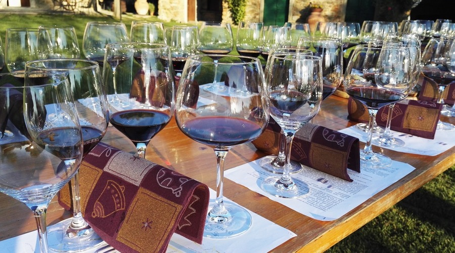 Guided wine tasting in villa: Tuscany famous wines